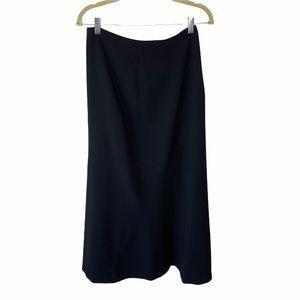 Escada Black Wool Asymmetrical Midi Pencil Skirt